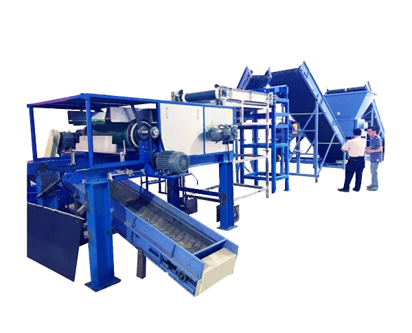 Belt Conveyor + Vibration Feeder + Stainless Steel Sorting Machine + Eddy Current Separator