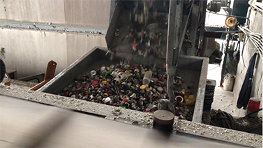 Aluminum cover recycling system