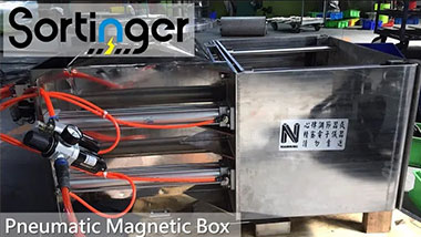 Pneumatic Magnetic Box|Remove iron particles automatically|Sortinger