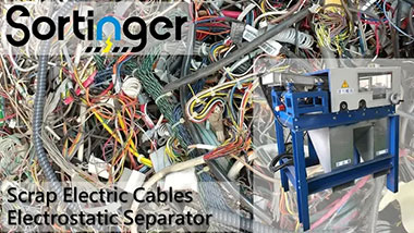 Electrostatic Separator|Copper powder from scrap Electric Cable|Sortinger