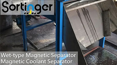 Wet-type Magnetic Separator/Coolant Magnetic Separator|Iron Sludge from CNC machining|Sortinger