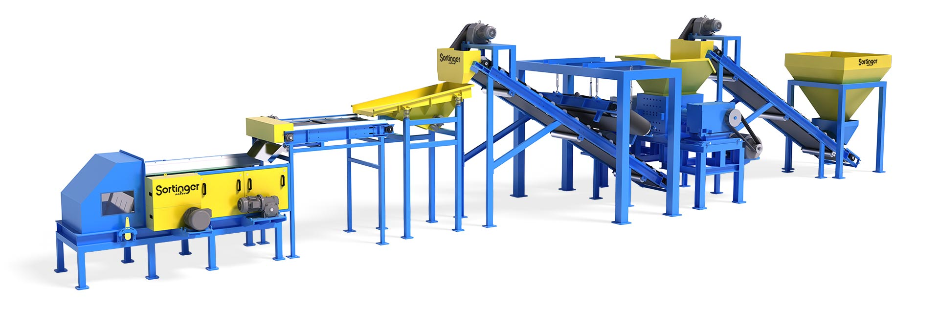 magnetic sorting machine plant line